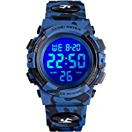 Venhoo Kids Watches Digital Outdoor Sport Waterproof Electrical EL-Lights Watches with Alarm...
