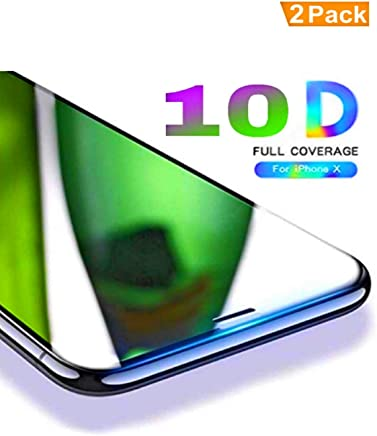 Aeidess Tempered Glass for Apple iPhone Xs/X-Edge to Edge Full Screen Coverage (Pack of 2)