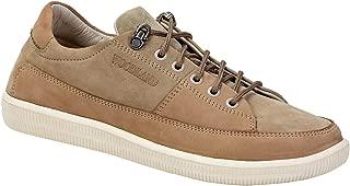 Woodland Men's OGC 3003118_Khaki Leather Sneakers-9 UK (43 EU) (10 US) 3003118KHAKI