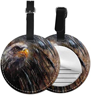 Holder Baggage Eagle,Angry Bird Black Feathers Label Travel Accessories