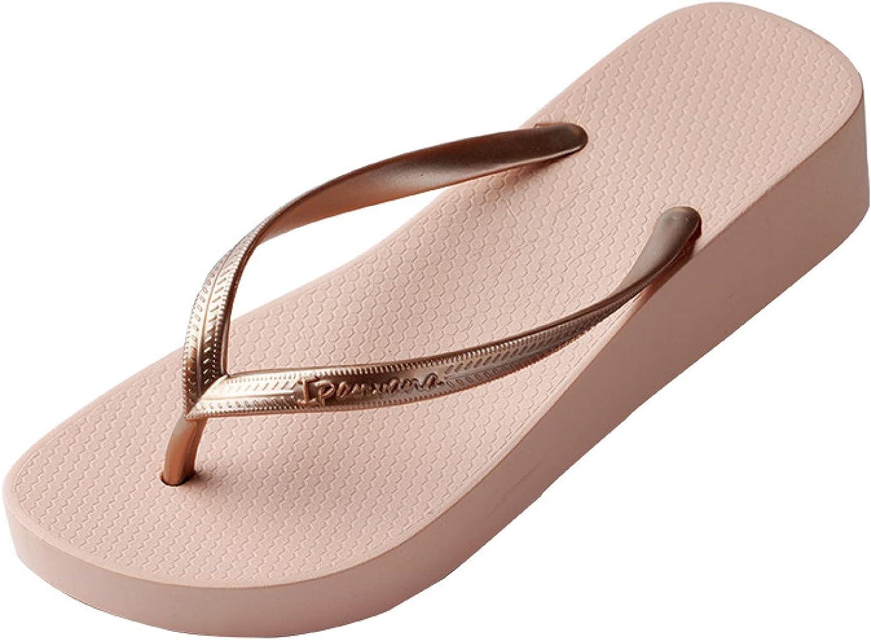 Women's Summer High Heels Casual Wedge Flip Flops Walking Thong Slippers Slip On Platform Nonslip Beach Pool Sandals