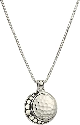 Dot Moon Phase Pendant Necklace
