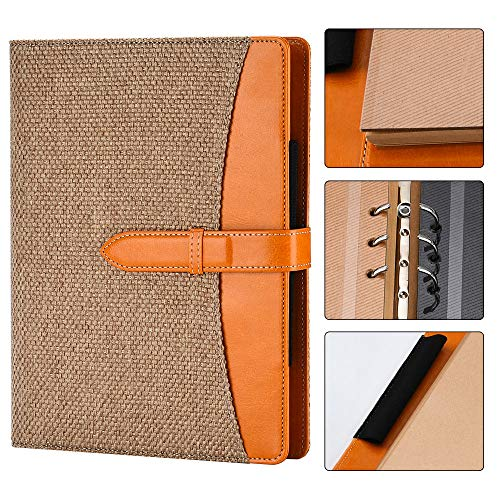 SEEALLDE A5 Lino Notebook Diario di viaggio Notebook Diario vintage Ricaricabile 90 fogli / 180 pagine Carta spessa senza acidi per la scrittura / pittura