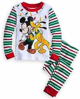 49c831a778 Disny Mickey Mouse and Pluto Boy s Size 4 Christmas Holiday Pajama Set