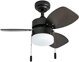 "Honeywell Ceiling Fans 50602-01 Ocean Breeze Contemporary, 30"" LED Frosted Light, Light.."