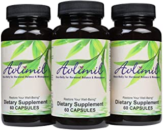 Avlimil� Hormone Balance & Menopause   Relief from Mood Swings, Hot Flashes, Night Sweats and Irritability - Isoflavones, Black Cohosh, Raspberry, Valerian, Sage, Red Clover, Lemon Balm - 3 month