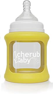 Cherub Baby Cherub Baby Colour Change Glass Bottles Wide Neck 150ml Single Pack, Yellow,