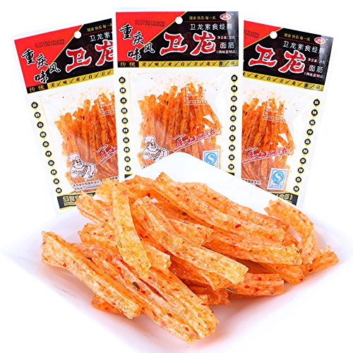Set of 30 packs Chinese Special Spicy Snack Food Wei Long La Tiao Weilong Latiao 28g30 Pack