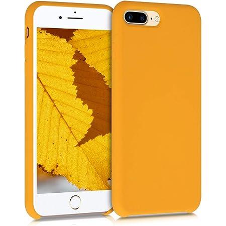 kwmobile Cover Compatibile con Apple iPhone 7 Plus / 8 Plus - Custodia in Silicone TPU - Back Case Protezione Cellulare Giallo Zafferano