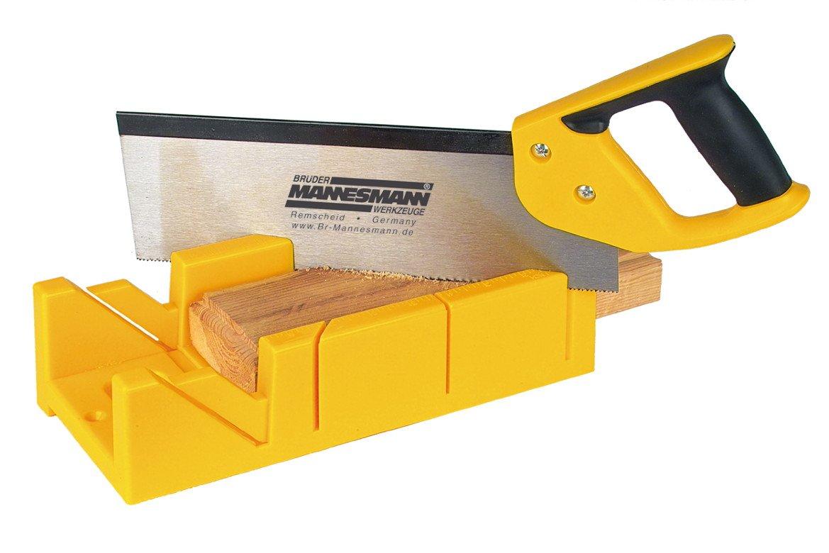 Mannesmann - M30182 - Caja de ingletes con sierra de mano: Amazon.es: Bricolaje y herramientas