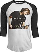 JeremiahR Keith Urban Greatest Hits Men's 3/4 Sleeve Raglan Baseball T-Shirt Black