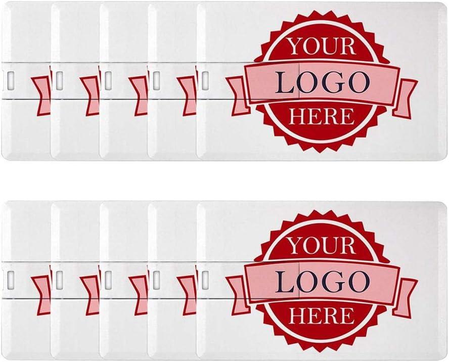 Custom Logo Credit Card USB Flash Drive Bank Card Memory Stick (4GB X 10PCS)