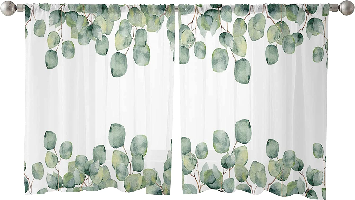Semi Sheer Curtains 2 Panels Treatments Window Privacy Cheap mail order shopping In stock