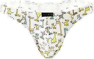 YUUMIN Men Sissy Pouch Panties Cartoon Funny Low Rise Bikini Briefs Crisscross Underwear Knickers
