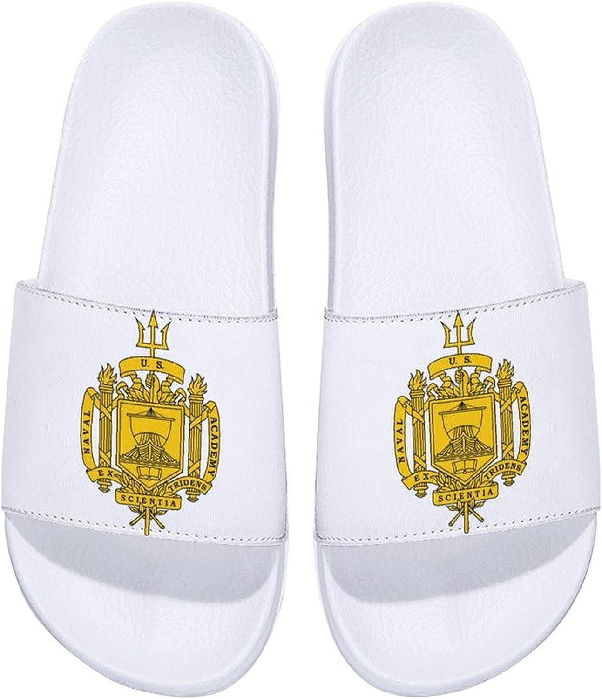 Us Naval Academy Logo Men's and Women's Comfort Slide Sandals Indoor Outdoor
