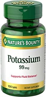 Nature's Bounty Potassium Gluconate, 595 mg, 100 Caplets