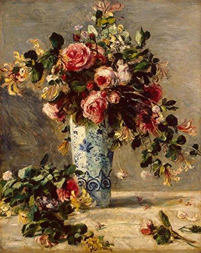 Das Museum Outlet–Rosen und Jasmin in einer Delfter Vase, 1890–91–A3Poster