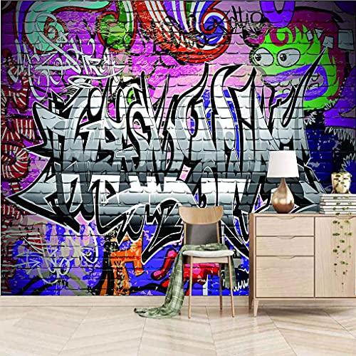 FVGKYS Papel Pintado Moda Personalizado Murales Arte Grafiti Fondo De Pantalla Sala De Estar Sofá Tv Fondo Pared Decoración Del Hogar 3D Autoadhesivo Pared Calcomanías 150x105cm