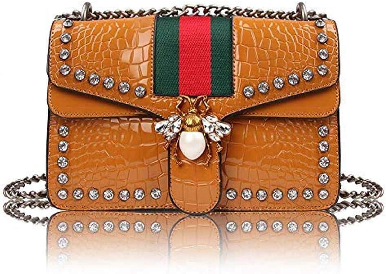 Designer Shoulder Bag for Women, Fashion Bee Crossbody Bag Handbags with Chain