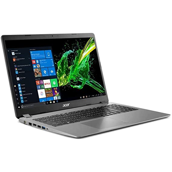 "2020 Acer Aspire 3 15.6"" Full HD 1080P Laptop PC, Intel Core i5-1035G1 Quad-Core Processor, 8GB DDR4 RAM, 256GB SSD, Ethernet, HDMI, Wi-Fi, Webcam, Numeric Keypad, Windows 10 Home, Steel Gray"