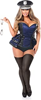 Women's Lavish 5 Pc Officer Frisky Corset Costume