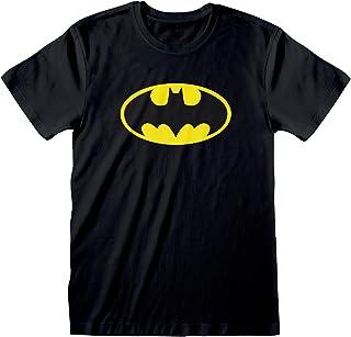 DC Comics Batman Distressed Japanese Logo Men's T-Shirt | Official Merchandise | S-XXL, Dark Knight Justice League Superhe...