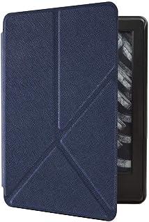 Capa Kindle 10ª geração com iluminação embutida – Auto Hibernação – Fecho Magnético – Origami - Azul Marinho