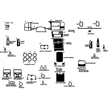 Rvinyl Rdash Dash Kit Decal Trim for GMC Yukon 2007-2014 Aluminum Brushed Black