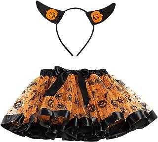 Fossen Kids Disfraz Princesa Niña Vestido de Fiesta Halloween Navidad Cosplay de Arco - Tutu Falda de Malla + Diadema de O...
