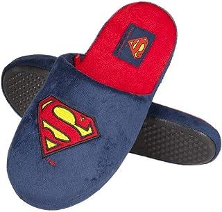 soxo Pantoufles Homme Superman | Taille 41-46 | Chaussons Confortable d'intérieur | Semelle élastique Antidérapante en Cao...