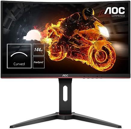 """AOC C24G1 24"""" Widescreen VA LED Black/Red Curved Monitor (1920x1080, 1ms, 144hz, VGA, 2xHDMI, DP)"""