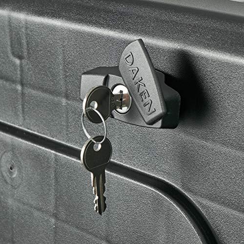 DAKEN Deichselbox Blackit 2-550x250x295mm Anhängerbox Werkzeugkasten Anhänger Staukiste Werkzeugkiste Box 23L - 5