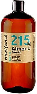 comprar comparacion Naissance Aceite de Almendras Dulces n. º 215-1 Litro - 100% natural para humectar y equilibrar la piel, hidratar el cabel...