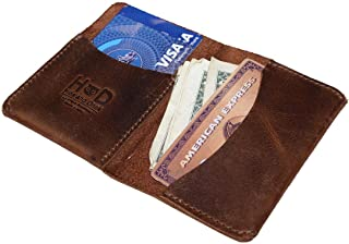 Hide & Drink, Leather Bifold Card Holder, Holds Up to 6 Cards / Organizer / Case / Wallet, Handmade Includes 101 Year Warr...