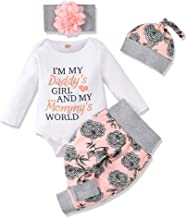 Best Honykids 3PCS Newborn Baby Girl Romper Jumpsuit Bodysuit +Pants Shorts+Headband Outfit Set Review
