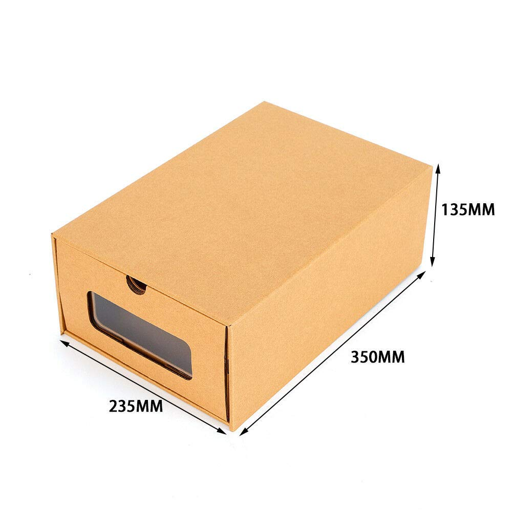 Zapatos De cartón elegante de Almacenamiento Cajón Caja Plegable ...