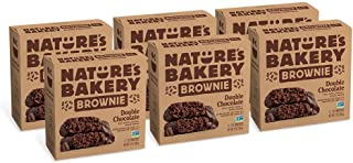 Nature's Bakery Vegan + non-GMO, Double Chocolate Brownie, Packaging May Vary - 6 Count (Pack of 6)