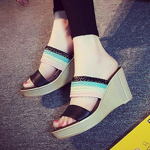 YMFIE Mode été Occasionnels Sandales compensées et Pantoufles en Plein air Vacances de Plage Anti-dérapant Chaussures de Plage, 39 UE, A