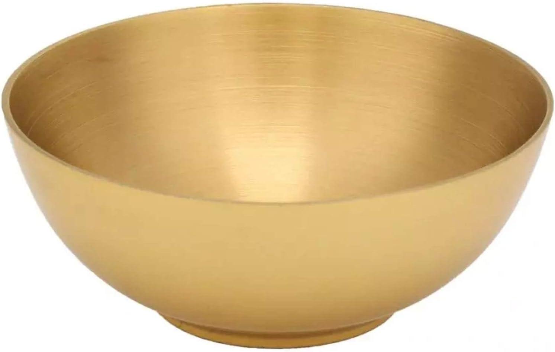 Cuenco de Meditación Bronco tazón Budista Suministro Dios adoración utensilio 3.2 Pulgadas Cuenco Chakra Cobre Bronce Qing Cuenco para Yoga Zen Relajación (Color : Brass, Size : One Size)