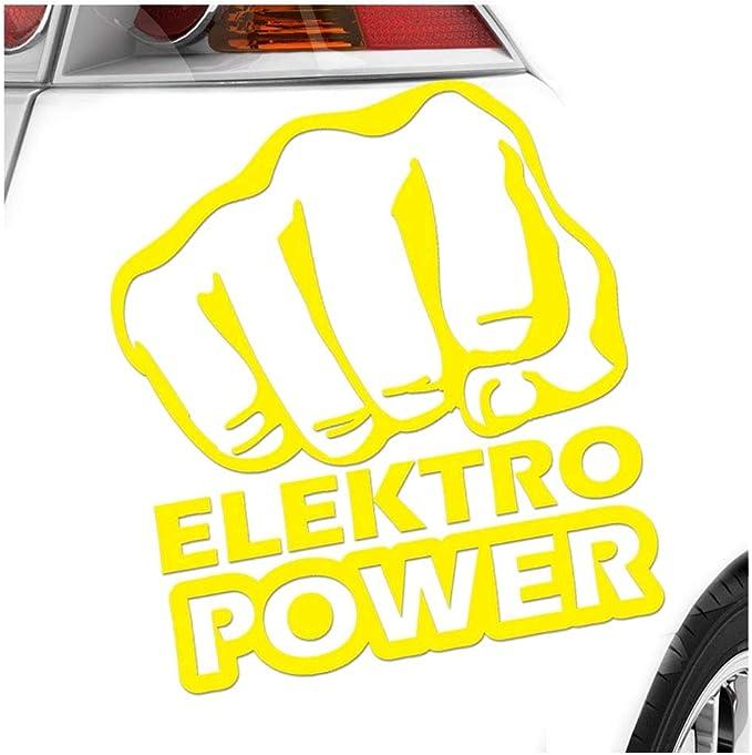 Kiwistar Elektro Power Faust Schlag 10 X 11 Cm In 15 Farben Neon Chrom Sticker Aufkleber Auto