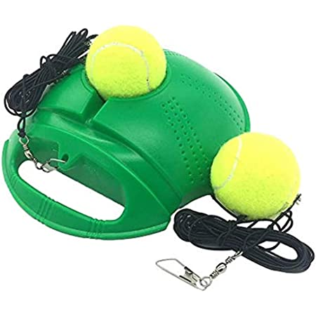 TADAMI Solo Tennis Trainer Rebound Ball,Tennis Practice Equipment,Tennis Trainer with String,Tennis Self-Study Practice Training Tool Equipment Sport Exercise Beginner with Balls