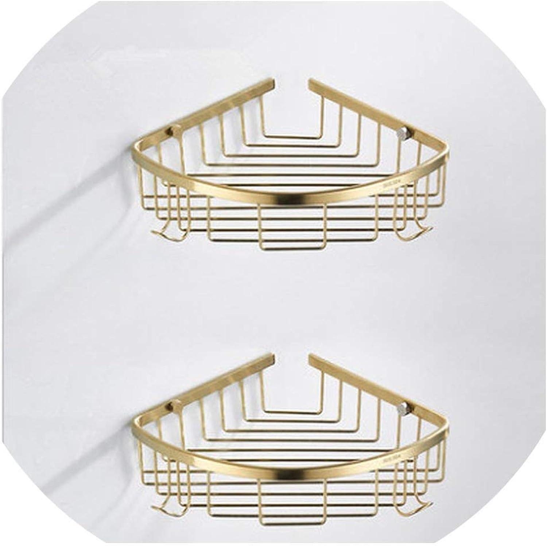 Nordic golden Brush Bathroom Shelf Triangle Frame 304 Stainless Steel Bathroom Rack,Burgundy