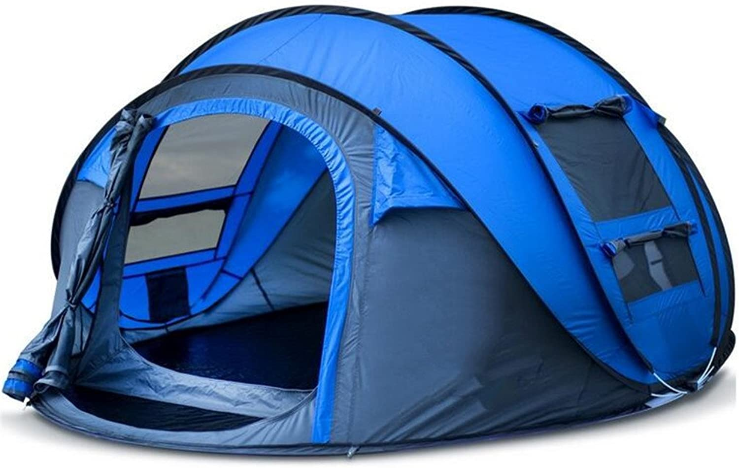 LUCKY-U Campingzelt, Durable Double-Layer Waterproof & Windproof Zelt, Portable Faltendes Faltendes Faltendes Zelt Im Freien Für 3-4 Personen B07DMC42TX  Wir haben von unseren Kunden Lob erhalten. 1aee4e