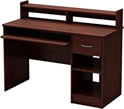 South Shore Axess Desk with Keyboard Tray, Royal Cherry