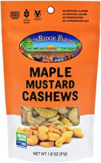 SunRidge Farms EnergyGo - Maple Mustard Cashews NonGMO, 1.8 Ounce Bag (Pack of 8)