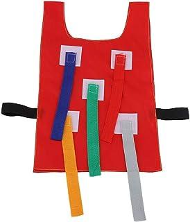 سترة بذيول سحب للاطفال والصغار للعب في الخارج والمدرسة، معدات وادوات العاب تعليمية لرياض الاطفال (لون احمر)