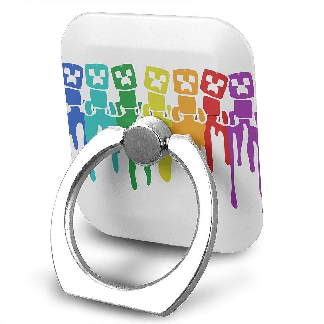 正規化祈る蛾Colorful Creeper スマホ リング ホールドリング 指輪リング スクエアス 薄型 おしゃれ スタンド機能 落下防止 360度回転 タブレット/スマホ IPhone/Android各種他対応