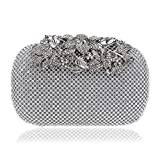 Sumferkyh Omen - Bolso de mano con cuentas, bolso de mano de noche y monederos de diamantes para banquetes, bolso de mano, bolso de mano de hombro y cruzado (color : D)