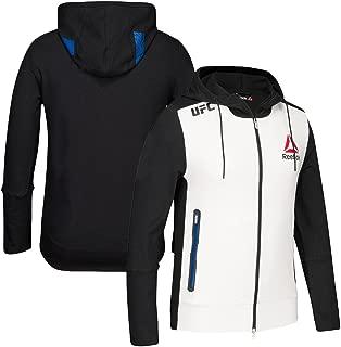 Reebok Official UFC Fight Kit B20 (White/Black/Blue) Walkout Hoodie Men's