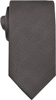 Remo Sartori - Cravatta Lunga Extra Lunga XL in Seta Unito Spigato, Lunghezza da 155 cm a 175 cm, Made In Italy, Uomo
